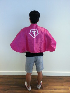 Mike Wearing Cape