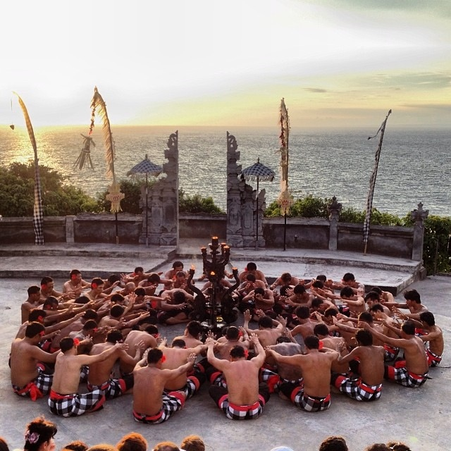 The memorable Kecak dance performance.