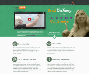 Bethany Bauer's CTAConf Landing Page Application