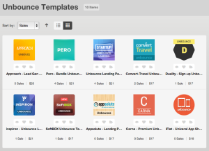 The First 10 Unbounce Templates in ThemeForest