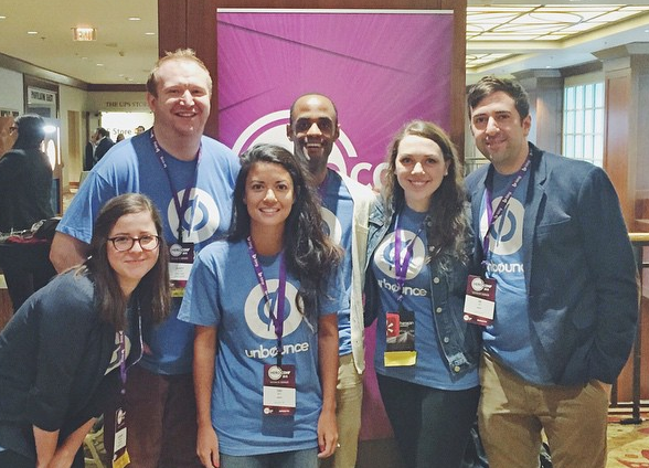 Part of our marketing team repping Unbounce at HeroConf
