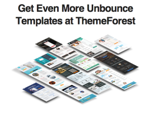 Unbounce landing pages on ThemeForest.