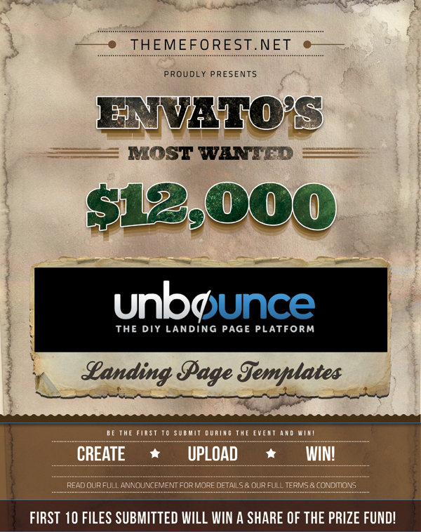Envato's Most Wanted Unbounce Landing Page